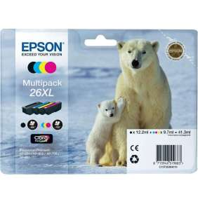 EPSON cartridge T2636 (black/cyan/magenta/yellow) multipack (lední medvěd) XL