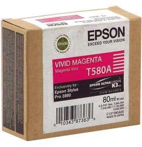 EPSON cartridge T580A vivid magenta (80ml)
