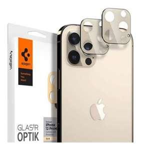 Spigen Optik Lens Protector pre iPhone 12 Pro Max - Gold