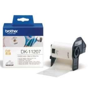 Brother - DK-11207 (papírové / CD, DVD štítek-100 ks)