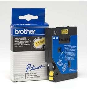 Brother - TC-691 žlutá / černá (9mm)