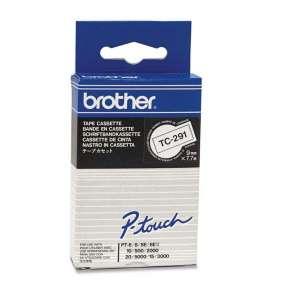 Brother - TC-291 bílá / černá (9mm)