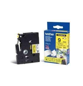 Brother - TZe-FX621,  žlutá / černá, 9 mm,  s flexibilní páskou