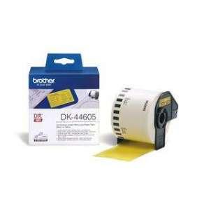 Brother - DK 44605 (papírová role žlutá 62mm x 30,48m) - snadno odstranitelná