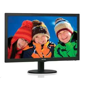 "Philips 243V5LSB/00 23.6"" LED 1920x1080 10 000 000:1 5ms 250cd DVI cierny"