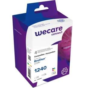 WECARE ink sada pro BROTHER LC-1240 VAL BP,černá/C