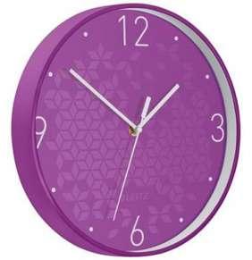 Nástěnné hodiny WOW fialová