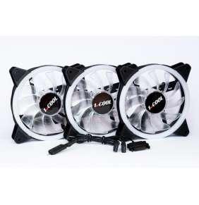 1stCOOL Fan KIT AURA EVO 1 ARGB, 3x Dual Ring ventilátor + ARGB Nano řadič