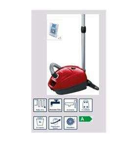 BOSCH_700 W, energetická trieda A, trieda účinnosti: koberce E, tvrdé podlahy D, prachové emisie B, PowerProtect systém,