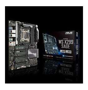 ASUS WS X299 SAGE, Intel LGA 2066 CEB with quad-GPU support, DDR4 4200MHz, dual M.2 & U.2, USB 3.1 Gen 2 connectors