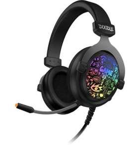 CONNECT IT DOODLE RGB herní sluchátka s mikrofonem, 2xJack+USB, ČERNÁ