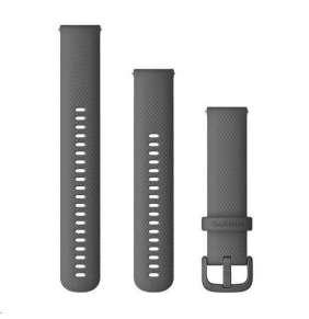 Garmin řemínek Quick Release 20mm, silikonový šedý, plastová přezka