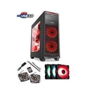 1stCOOL FullTower GAMER 1, set FAN1 RGB LED, skrinka ATX, USB3.0, čierna