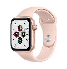 Apple Watch Series SE 40mm Cellular zlatý hliník s pískově růžovým sportovním řemínkem