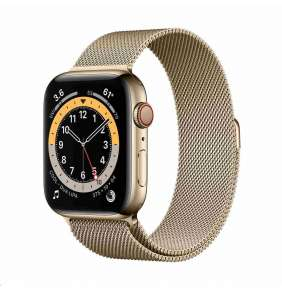 Apple Watch Series 6 GPS + Cellular, 44mm Gold Stainless Steel Case + Gold Milanese Loop