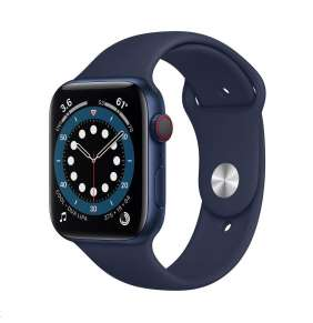 Apple Watch Series 6 GPS + Cellular, 44mm Blue Alum. Case + Deep Navy Sport Band - Regular