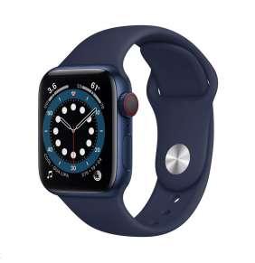 Apple Watch Series 6 GPS + Cellular, 40mm Blue Alum. Case + Deep Navy Sport Band - Regular