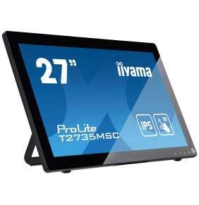 """27"""" iiyama T2735MSC-B3: IPS, FullHD, capacitive, 10P, 300cd/m2, VGA, HDMI, DP, černý"""