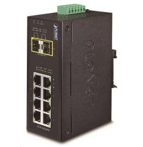 PLANET IGS-1020TF Průmyslový Switch 8x 10/100/1000T, 2x 100/1000X SFP, -40~+75°C