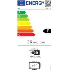"ACER LCD Predator XB273KGPbmiipprzx, 69cm (27"")IPS LED, UHD 3840x2160@144Hz(Overclock), 100M:1, 350cd/m2, 178°/178°, 1ms"