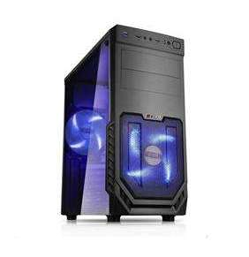 1stCOOL JAZZ 2, skrinka ATX, blue fan, transparentný kryt, USB3.0, čierna