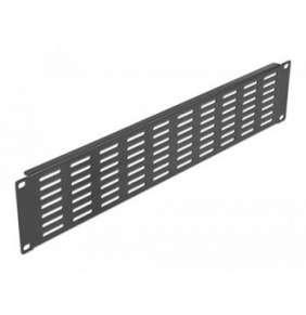 """Delock 19"""" panel síťové skříně s větracími štěrbinami, vodorovný, 2U, černý"""