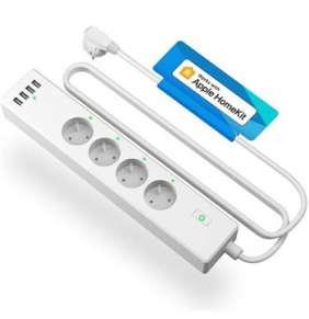 Meross Smart Wi-Fi Power Strip 4 AC + 4 USB Ports