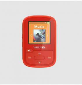 SanDisk Clip Sport Plus MP3 Player 32GB, Red