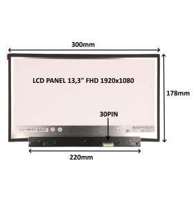 """LCD PANEL 13,3"""" FHD 1920x1080 30PIN MATNÝ / BEZ ÚCHYTŮ"""