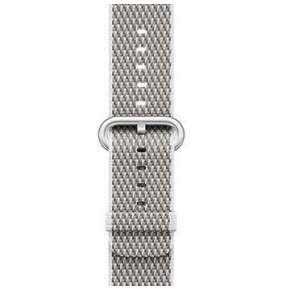 Apple Watch 38mm White Check Woven Nylon