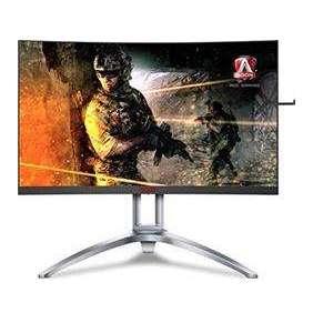 """AOC LCD AGON herní AG273QCX 27"""" zakřivený VA/2560x1440/1ms/50mil:1/400nits/VGA/2xHDMI/DisplayPort/4x USB 3.0/Repro"""