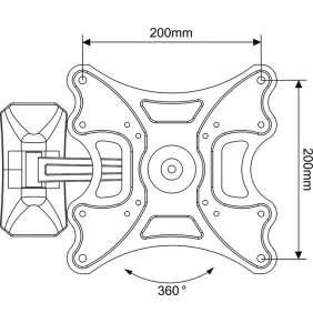 """LCD rameno Vogel´s M41030, 19-37"""", 2 klouby"""