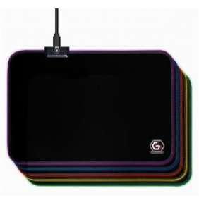 Gembird Podložka pod myš látková černá, MP-GAMELED-M, USB, RGB podsvícení, herní, 250x350mm