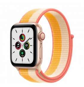 APPLE Watch SE GPS + Cellular, 40mm Gold Alum. Case with Maize/White Sport Loop