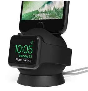iOttie OmniBolt Charging Watch & iPhone Stand - Black/Graphite