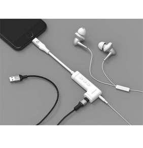 Adam Elements iLinio Lighting/Aux/Charging adaptér - White