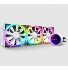 NZXT vodní chladič Kraken X73 RGB / 3x 120mm fan / LGA 2066/2011(-3)/1366/1156/1155/1151/1150/AM4/ bílý /6 let