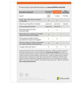 Microsoft 365 Personal P8 Mac/Win, 1rok, SK