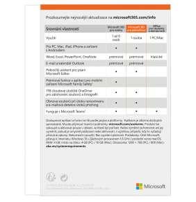 Microsoft 365 Personal CZ - předplatné na 1 rok