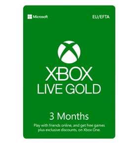 ESD XBOX - Zlaté členství Xbox Live Gold - 3 měsíce (EuroZone)