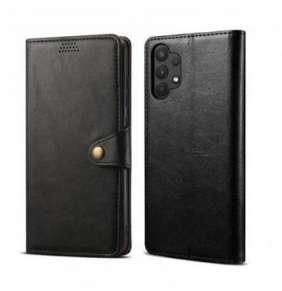Lenuo Leather flipové pouzdro pro Samsung Galaxy A52 4G/5G, šedá