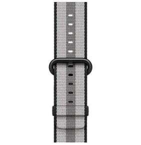Apple Watch 38mm Black Stripe Woven Nylon