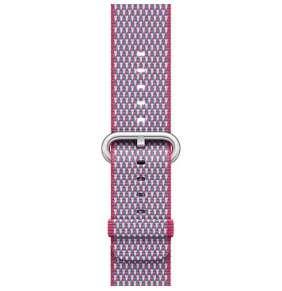 Apple Watch 42mm Berry Check Woven Nylon