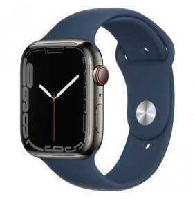 Apple Watch Series 7 Cell, 45mm Graphite/Steel Case/A.Blue SportBand
