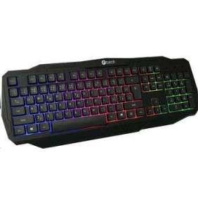 C-TECH herní klávesnice Arcus (GKB-15), casual gaming, CZ/SK, duhové podsvícení, USB