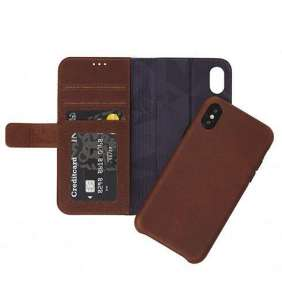 Decoded puzdro Leather Detachable Wallet pre iPhone XS/X - Brown