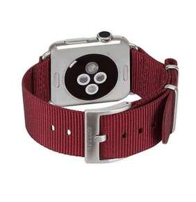 InCase Nylon Nato Band for Apple Watch 42/44 mm - Deep Red