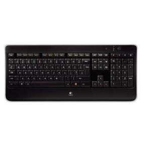 Logitech klávesnice K800/ Bezdrátová/ 2.4GHz/ podsvícená/ USB přijímač/ US (americká)/ černá
