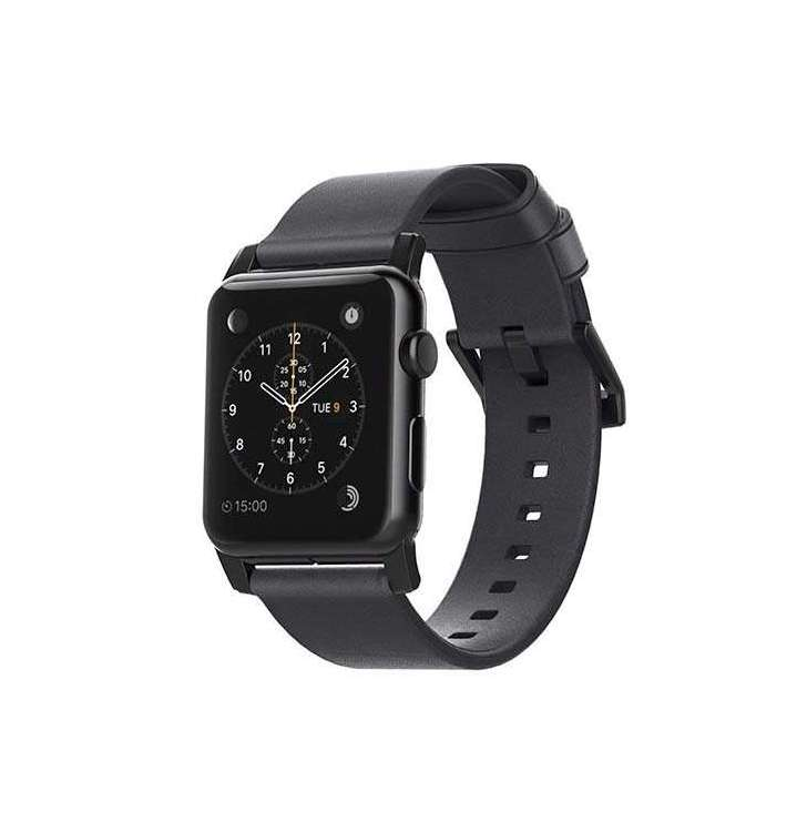 fdf81e940 Nomad kožený náramok pre Apple Watch 42/44 mm - Modern Slate Gray/Black  Hardware