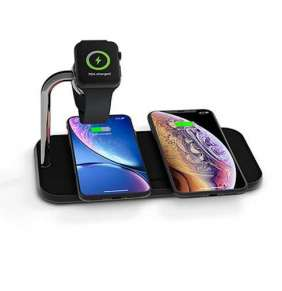 ZENS Aluminium Dual Wireless Charger + Watch 10W - Black